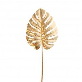 Pálma levél műanyag 38 cm arany