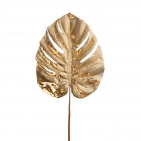 Pálma levél műanyag 74 cm arany
